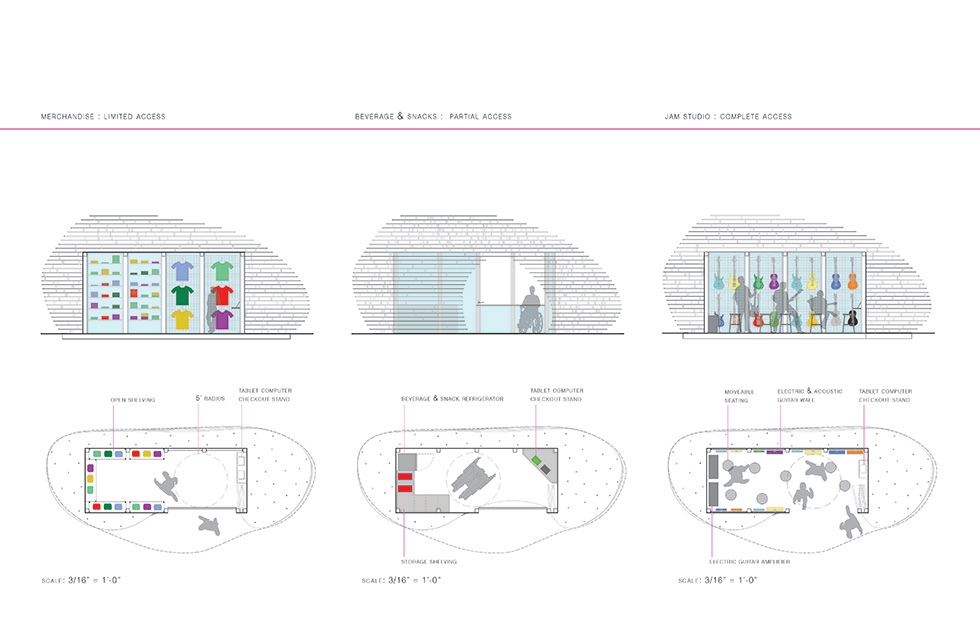Chicago architecture biennial lakefront kiosk competition for Architecture kiosk design