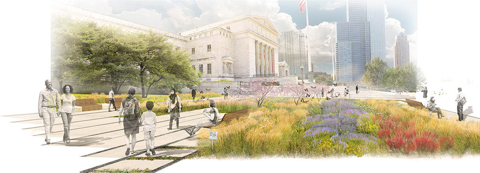 Field museum of natural history landscape masterplan for Landscape design chicago
