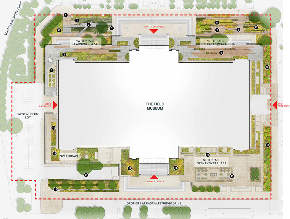 Field museum of natural history landscape masterplan for 1400 n lake shore drive floor plans