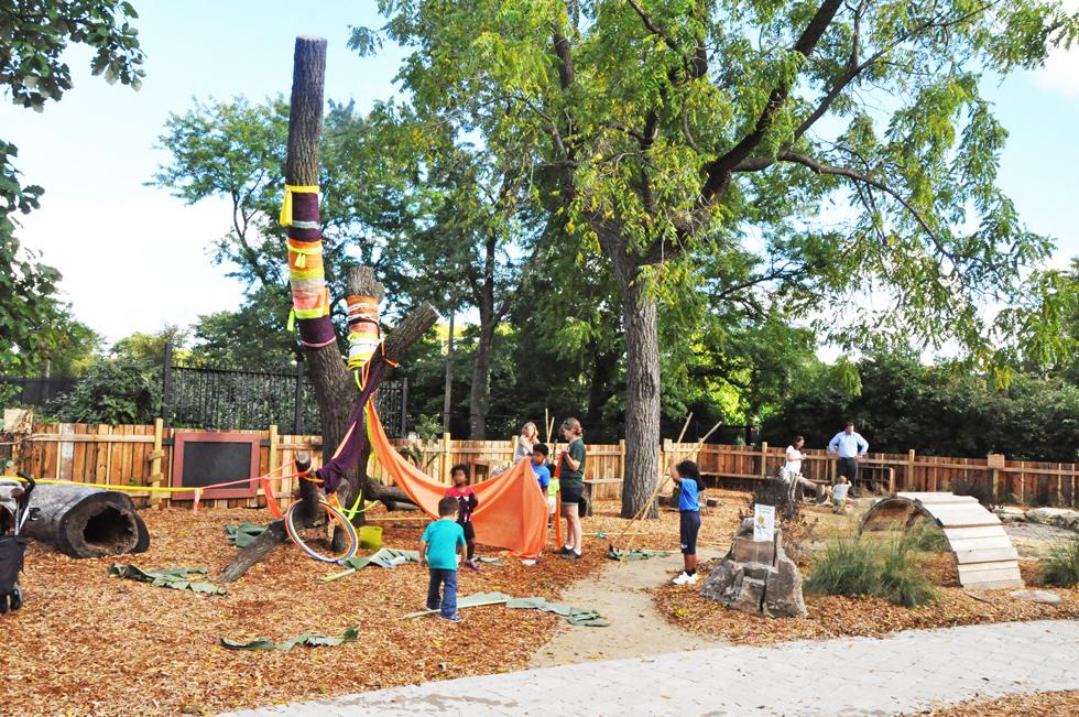 Natural playground design garfield park play grow for Interactive landscape design