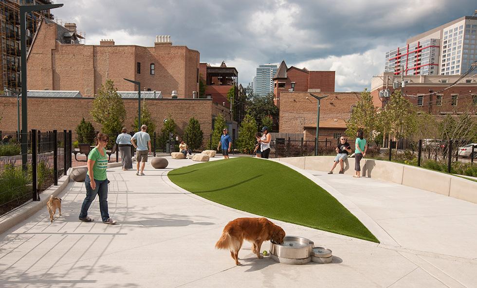 Prairie District Park Mccormick Place Pocket Park Dog Park Dog Friendly Area Site Design Group Chicago Landscape Architecture on Custom Park Avenue