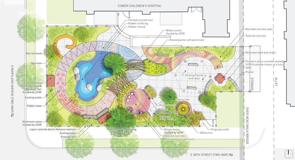 Comer Children's Hospital Playground Garden