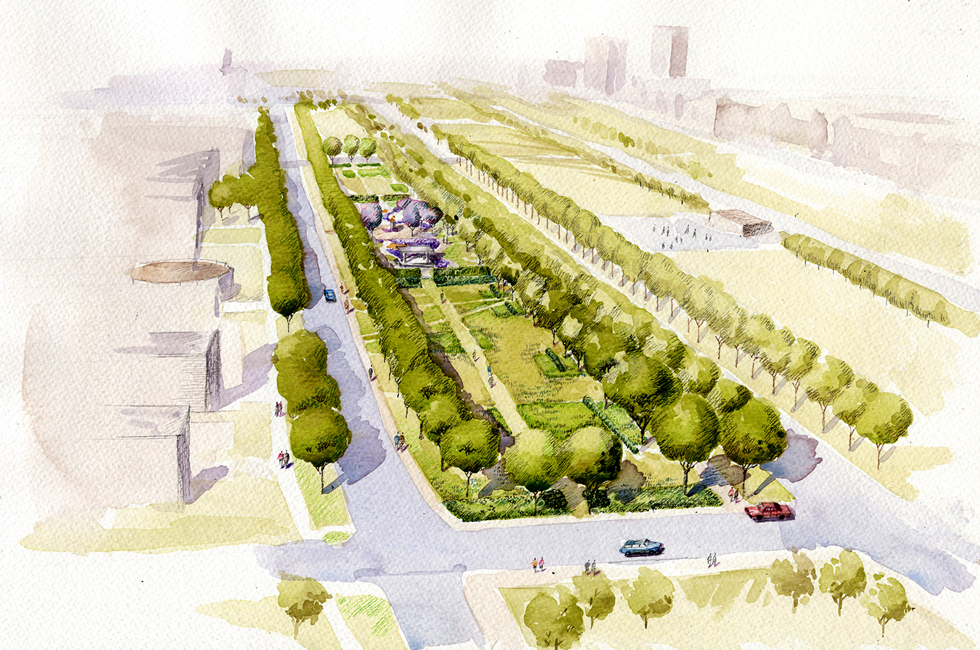 Midway plaisance south winter garden landscape design for Garden design winter 2018
