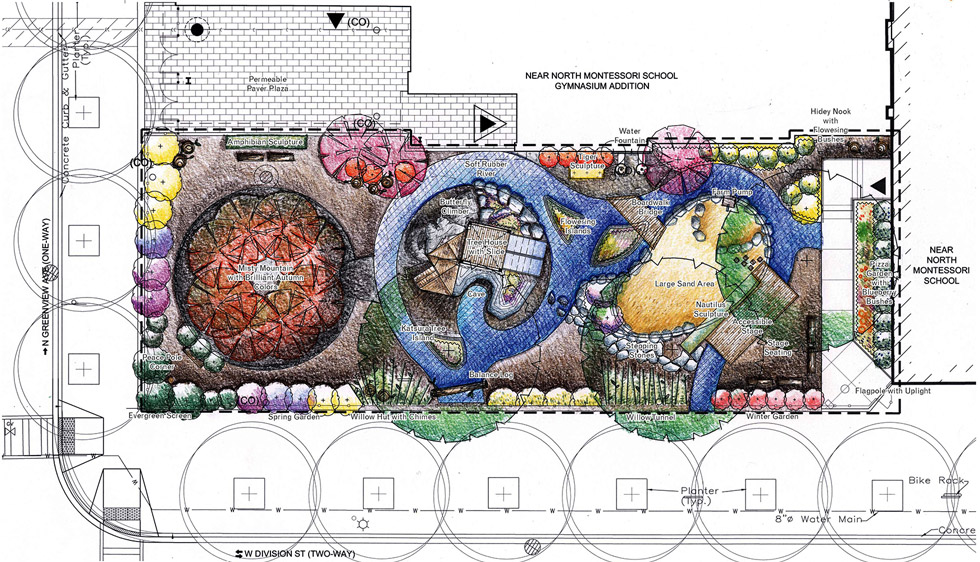 Garden Design Children S Play Area montessori school | natural playground design