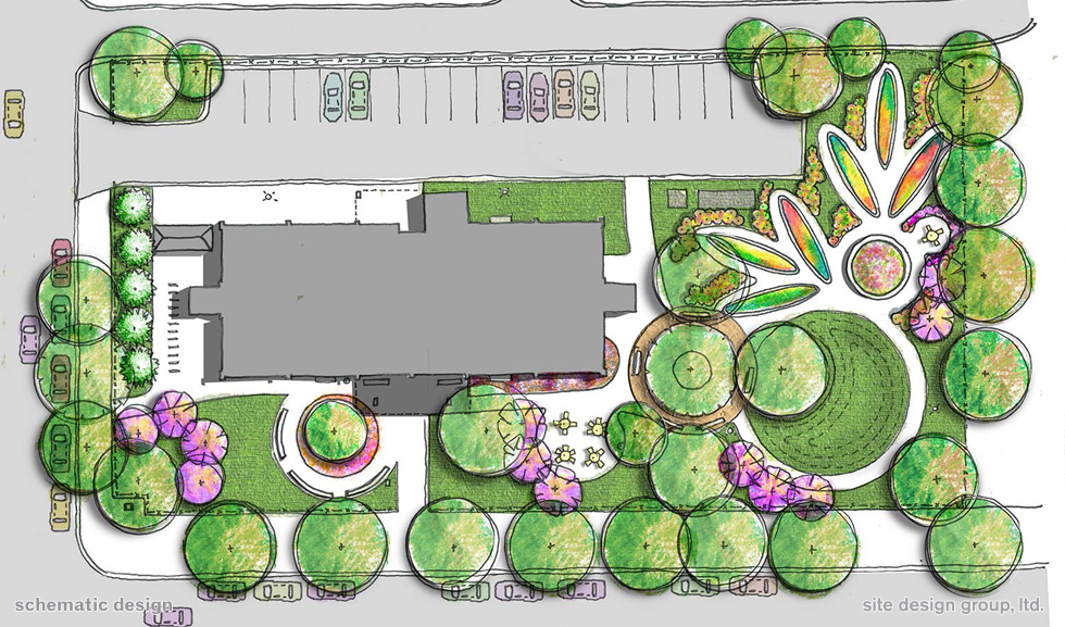 Castleman senior apartments for Landscape design site